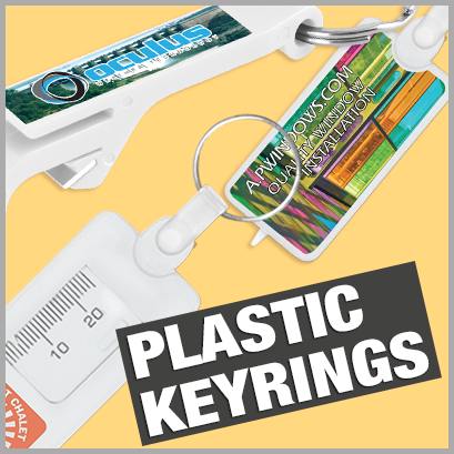 Promotional Plastic Keyrings with no MOQ